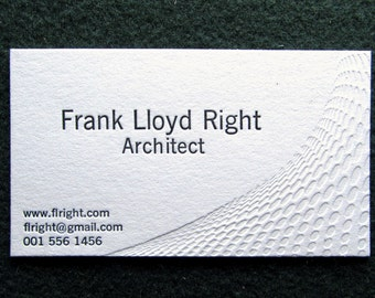 Great Price! - 50 Letterpress Business Cards, Professional Series 2. Why Pay More?