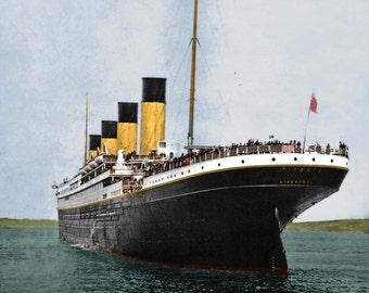 Print of The Titanic - Photo of the Stern of the Titanic in 1912