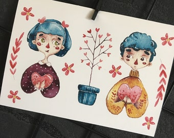 Couple Postcard
