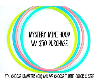 Mini Hoop Gift With 50 Dollar Purchase ~ 5 Dollar Mystery Mini Hoop with 50 Dollar Purchase ~ Mini Hoops, Mystery Hoops, FestivalTreasures
