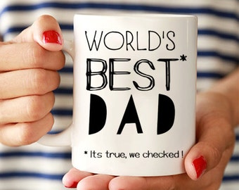"Fathers day gift from daughter, gifts for dad, father mug, ""worlds best dad"", dad mug, gift for dad from daughter, dad mug, gift ideas MU125"