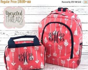 Backpack and Lunchbox Set, Girl's Backpack Set, Backpack, Monogram Backpack, Backpack Set, Back To School, Girl's Backpack, Monogram Bag