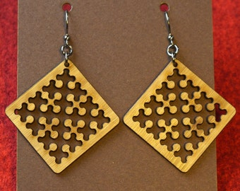 Laser-cut Sierpinski Curve Earrings