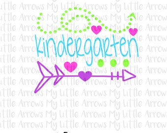 Kindergarten SVG, DXF, EPS, png Files for Cutting Machines Cameo or Cricut - kindergarten svg // back to school svg // first day of school