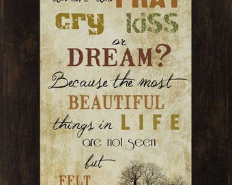 Most Beautiful Things In Life Inspirational Framed Picture Decor