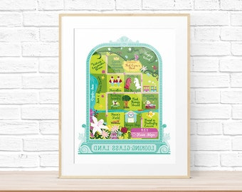 Map of Looking-Glass Land Art Print