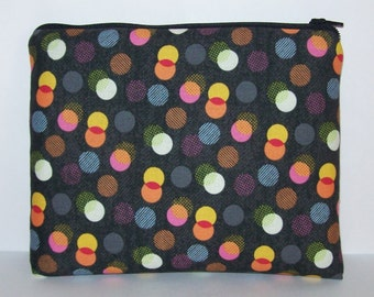 "Pipe Pouch, Disco Lights Bag, Pipe Case, Pipe Bag, XL Zipper Bag, Padded Pipe Pouch, Hipster, Stoner, 420, Gadget Bag, 7.5"" x 6"" - X LARGE"