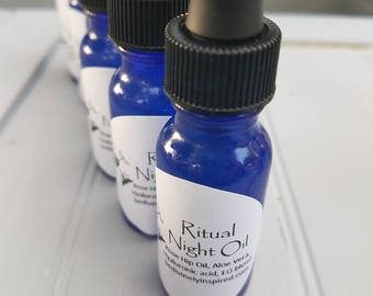 Ritual Oil; Hibiscus Hyaluronic Acid, Aloe Vera, Rose Hip and Blackberry oil, Anti-aging, Wrinkle- reducer