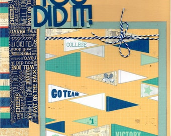 You Did it! - School/ College Themed, 2 page scrapbooking kit