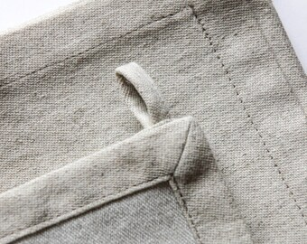 Beige linen tea towel - Rustic linen kitchen towel -  Ecofriendly textile - Organic kitchen towel - Natural kitchen decoration