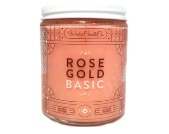 Rose Gold Basic Candle With Free Pin Inside