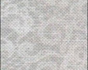 CRYSTAL LACE 28 ct. hand-dyed then printed cross stitch fabric linen by Fabric Flair at thecottageneedle.com blue gray white