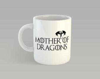 Game of Thrones Mother of Dragons Khaleesi Daenerys Stormborn of the House Targaryen Mug Coffee Tea Ceramic Cup 11oz