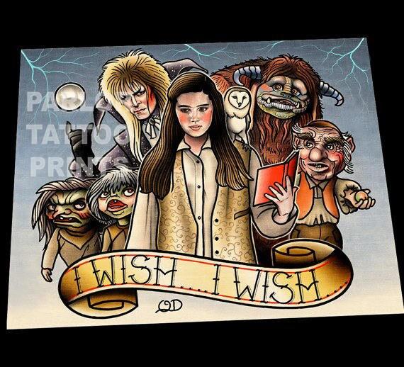 Simple Labyrinth Movie Tattoo: Labyrinth Tattoo Flash