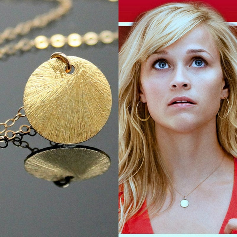 Reese witherspoon circle necklace gold disc necklace zoom aloadofball Image collections