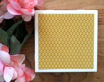 Coaster Set - Table Coasters - Gold Coasters - Coaster - Tile Coaster - Coasters for Drinks - Coasters Tile - Home Decor - Handmade Coasters