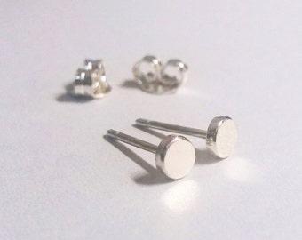 Sterling silver stud earrings, tiny stud earrings, round stud earrings, sterling silver studs, small stud earrings