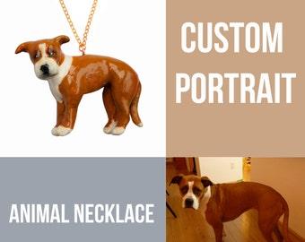 CUSTOM ANIMAL PORTRAIT, custom pet neklace, personalized animal necklace, 3D custom dog necklace, custom cat portrait necklace, 목걸이