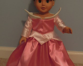 Sleeping Beauty Aurora dress. Fits American Girl size dolls