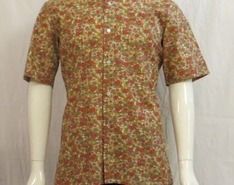 shirt sleeve cotton short Mandarin collar
