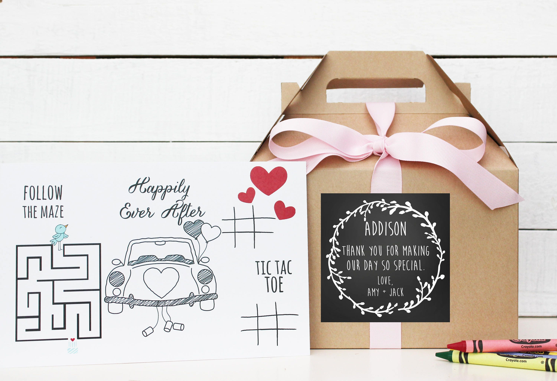 Set of 6 - Kids Wedding Boxes - ANY COLOR | Kids Wedding Favor Box ...