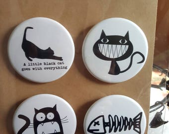 Cat Noir III - Pinback Badges