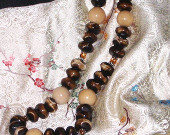 Bone and Tagua Nut Necklace