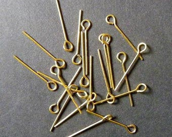 Set of 50 pins 28mm creation gold Stud Earrings