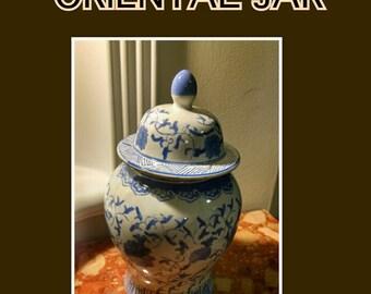 Blue and White Vintage jar