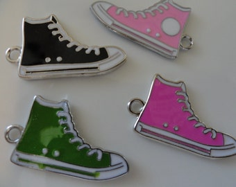 CLEARANCE Converse Sneaker Shoe Charm (5) DOUBLE SIDED - Black only Available