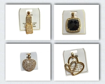 Trendy real 18k gold plated swarovski element crystal pendant without chain