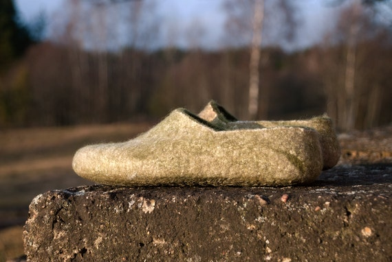 cashmere Non wool women wool wool and slippers gift sheep Women clogs from for Housewarming Organic slippery clogs handmade wool natural A0nqwffzd