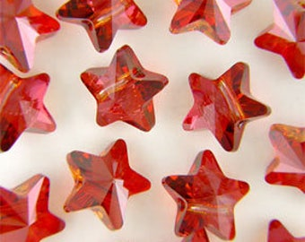Swaovski 5714 star bead in red magma size 12 mm - Quantity of 3 beads