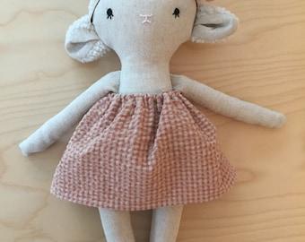 Large plush lamb sheep plush animal toy baby doll and child
