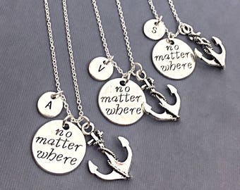 Set of 3 Personalized Friendship Charm Necklaces, Distance Friend Jewelry, Personalized necklace set of 3, Friendship Distance,Jewelry for 3