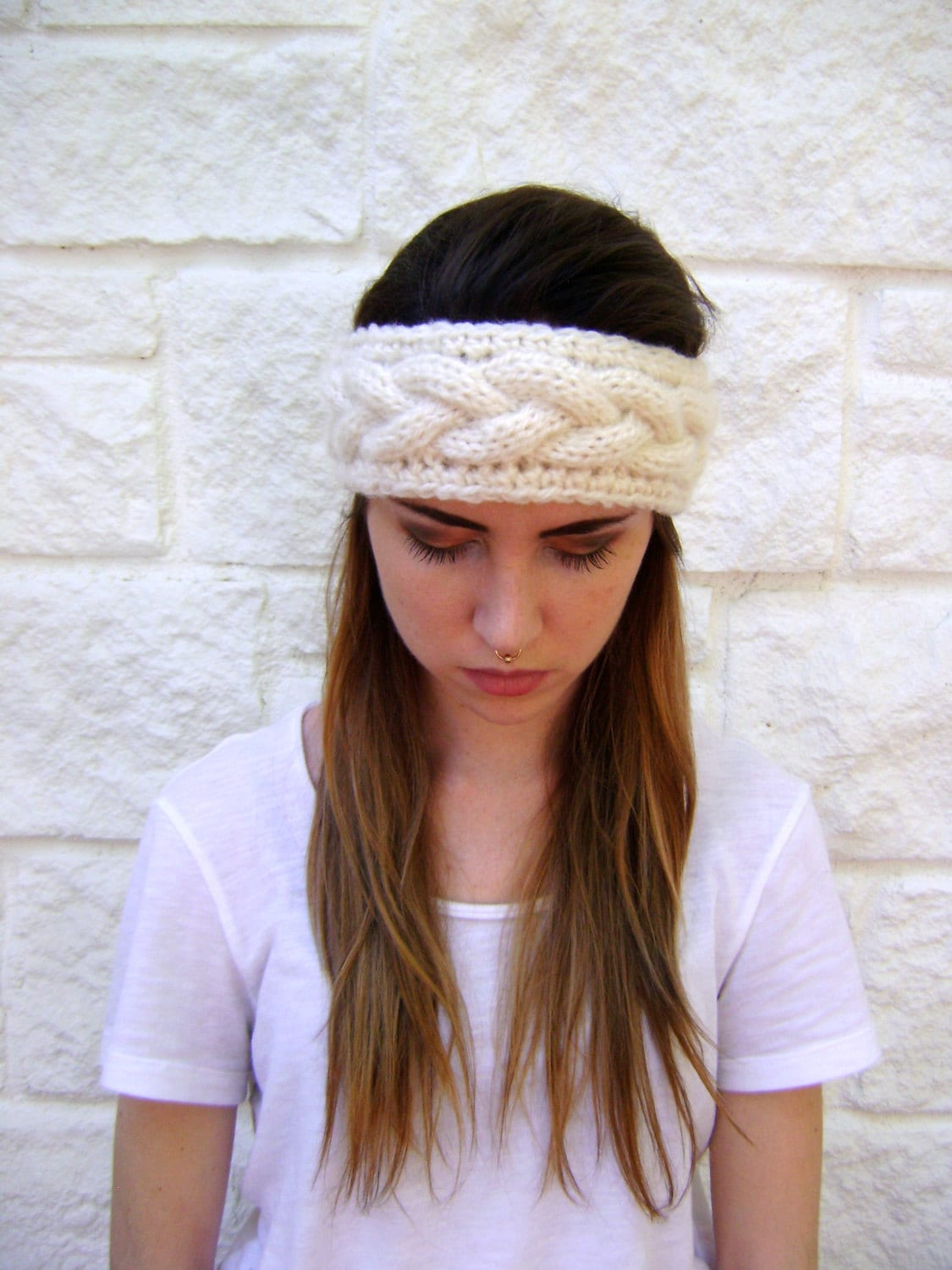 Attractive Chunky Cable Knit Headband Pattern Component - Blanket ...