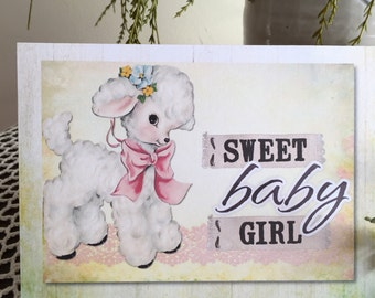 Item #66 Baby Greeting Card - Sweet Baby Girl - Children are a gift from the Lord Psalm 127:3