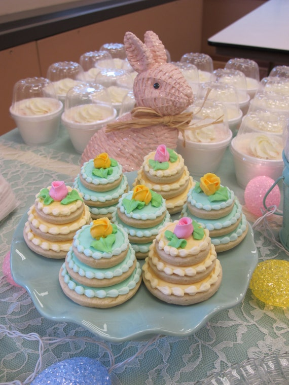 wedding cake stacked cookies items similar to wedding cake decorated sugar cookies 25585