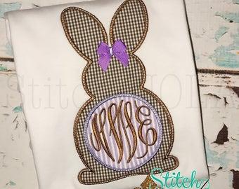 Bunny Monogram Shirt, Gown or Bodysuit-Boy or Girl