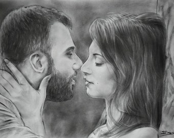 wedding gifts for couple personalized portrait drawing 10 year anniversary custom gifts for men custom drawing