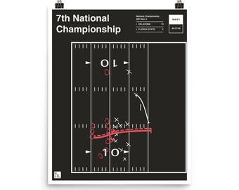 Oklahoma Football Poster: 7th National Championship (2001)