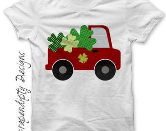 Boys Shamrock Truck Iron on Transfer, St Patricks Day Shirt, Toddler Shamrock Digital File, Kids Shamrock Tshirt, Toddler Truck Shamrock Tee