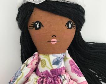 Handmade Doll Cloth Doll Fabric Doll Heirloom Doll Keepsake Doll African American Doll Boho Doll Rag Dolls Fabric Dolls Little Wildwood Doll