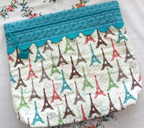 MORE2LUV Paris in Polka Dots Cross Stitch Embroidery Project Bag
