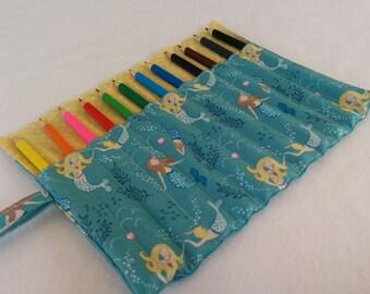 Mermaid Pencil Roll