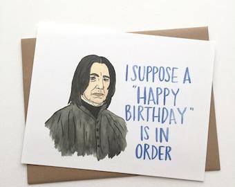 Snape Birthday// Harry Potter Card