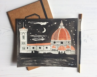 Florence duomo Original Illustration