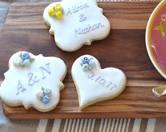 Royal Iced Vanilla Cookie - Wedding Rose Range