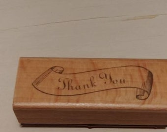 Retired Stamp   -     Thank You ( In scroll )