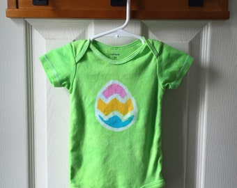 Easter Baby Bodysuit, Easter Egg Bodysuit, Easter Baby Shirt, Easter Baby Boy, Easter Baby Girl, Baby's First Easter (12 months)